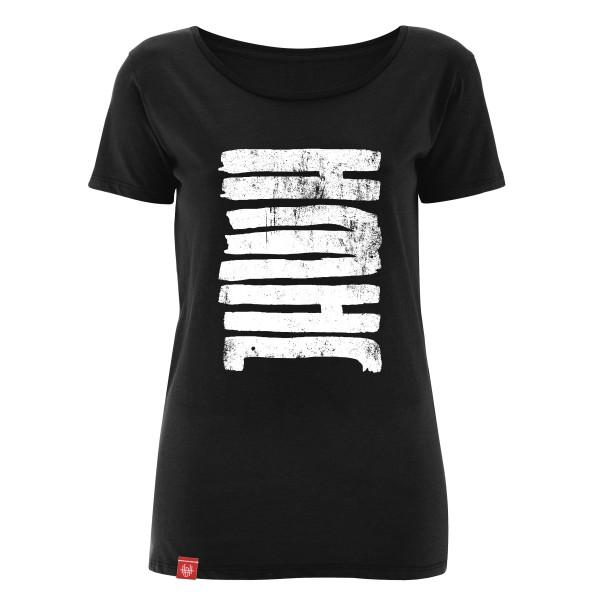 Girlie-Shirt JHWH (Jahwe – Gott) (Schwarz)