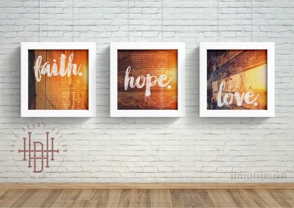 Glaube – Hoffnung – Liebe [Poster-Set orange]