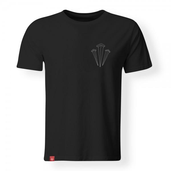 T-Shirt Drei Nägel (Schwarz)