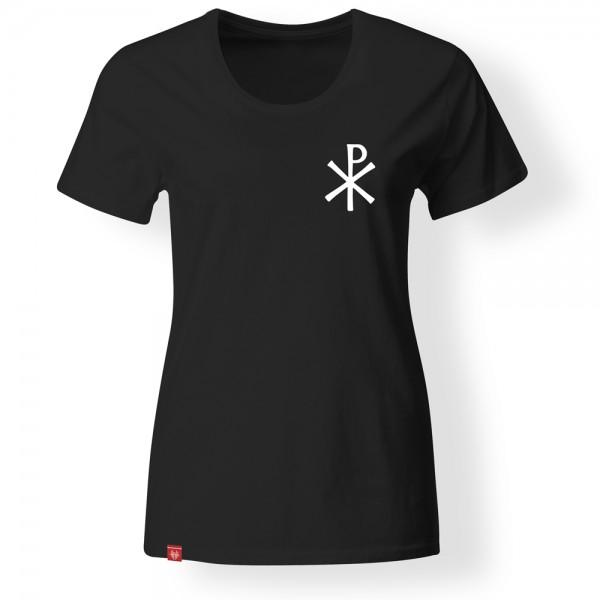 Girlie-Shirt Chi-Rho – schwarz