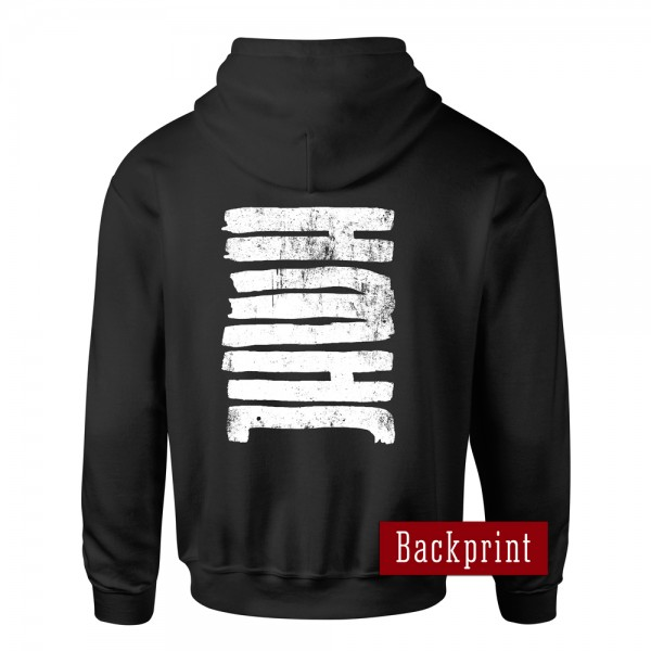 Kapuzenjacke JHWH (Jahwe – Gott) – schwarz