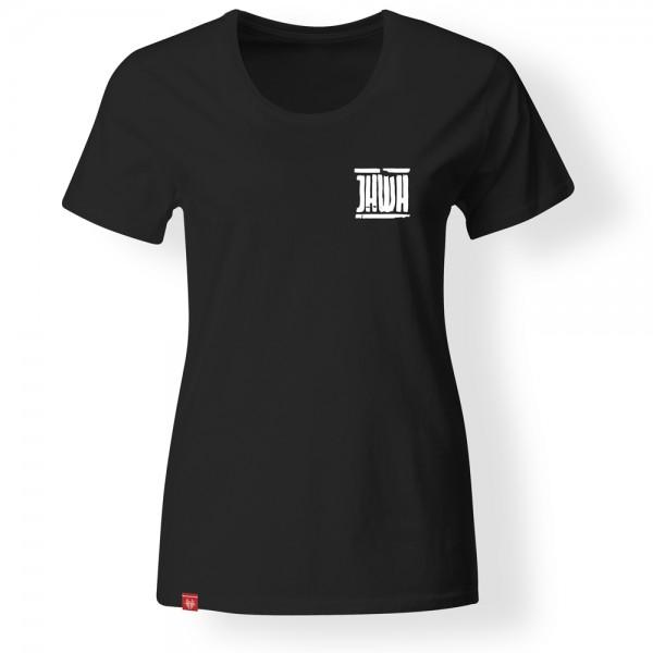 Girlie-Shirt Jahwe – schwarz