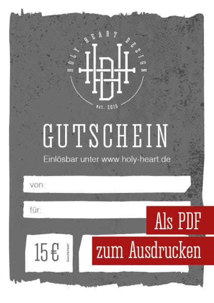 Gutschein Holy Heart Design 15 €