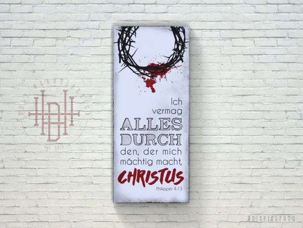 Alles durch Christus – Vintage Wandbild