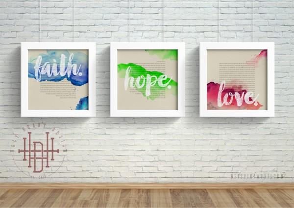 Glaube – Hoffnung – Liebe [Poster-Set bunt]