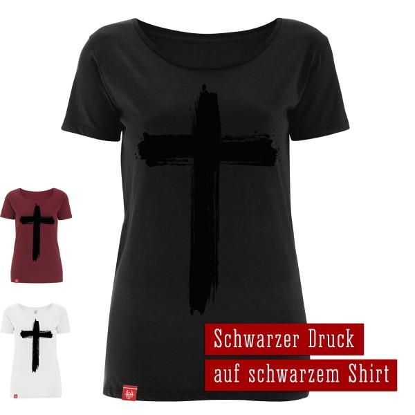 Girlie-Shirt Kreuz