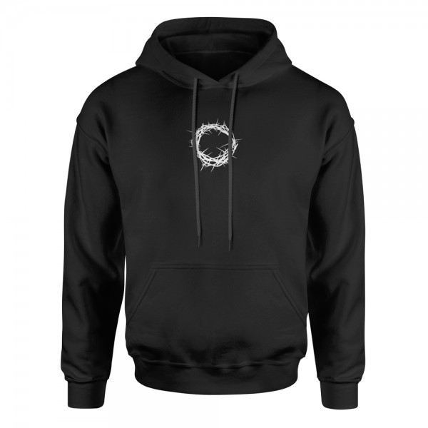 Hoodie Dornenkrone – schwarz