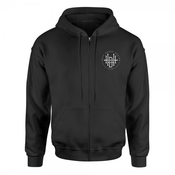 Kapuzenjacke Logo – schwarz