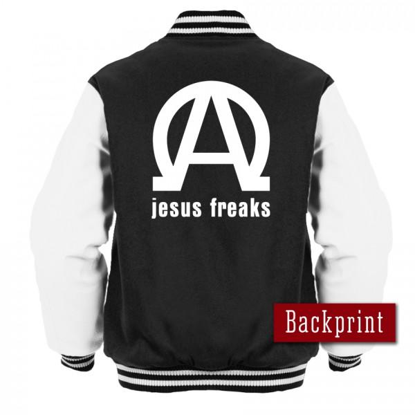 College Jacke Jesus Freaks Alpha Omega Newschool